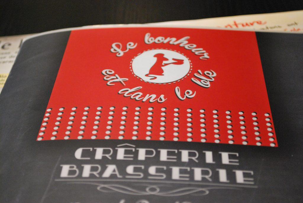 Carte du restaurant Le Bonheur est dans le Blé, Saint-Cast