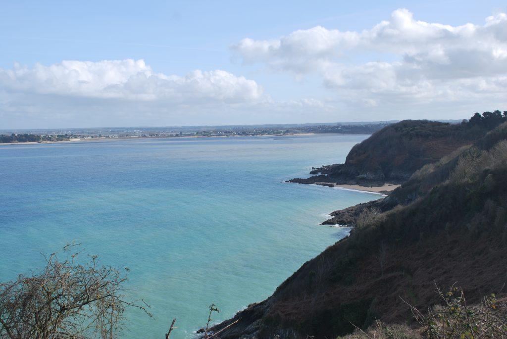 La mer vue depuis la Pointe du Bay
