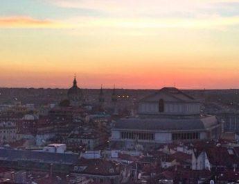 Coucher de soleil sur Madrid