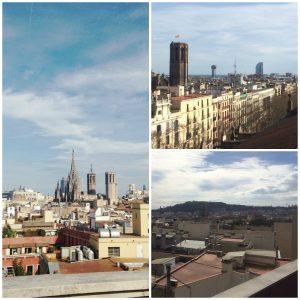 Vue du rooftop sur Barcelone