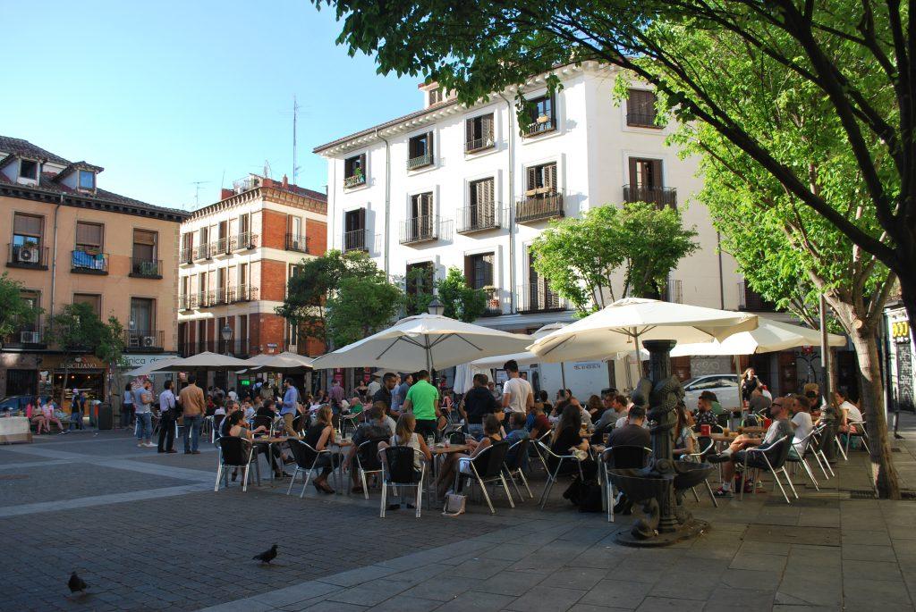 Plaza San Ildefonso à Malasaña