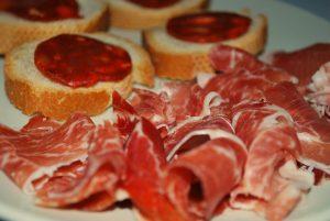 Assiette de jamon ibérico et chorizo