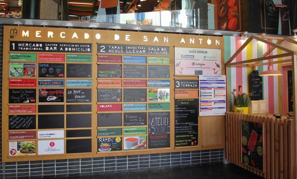 Rez de chaussée du Mercado San Anton