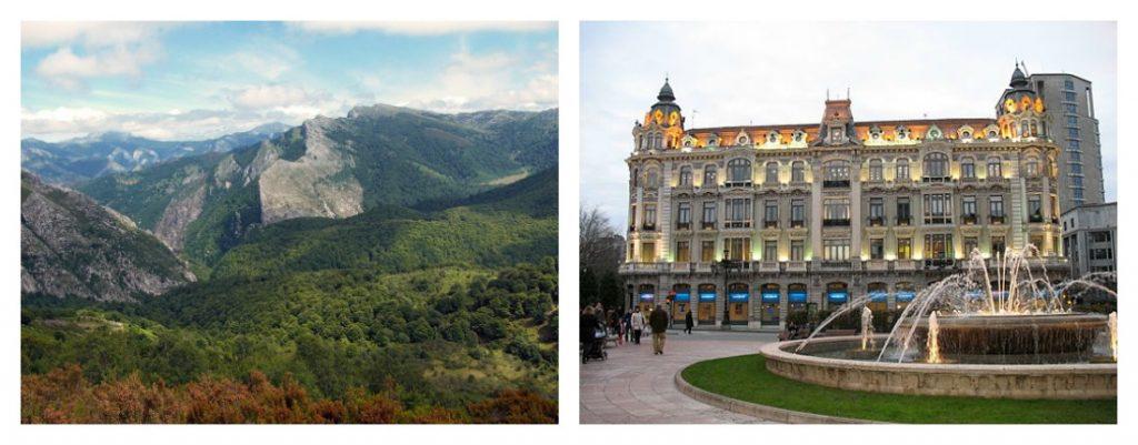 La région d'Asturias et sa capitale Oviedo