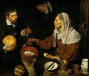 Vieja friendo huevos de Velazquez