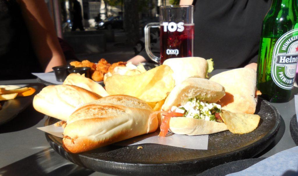 Les mini-sandwichs du 100 Montaditos