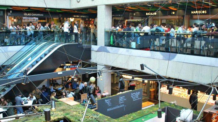 Vue de l'intérieur du Mercado San Anton