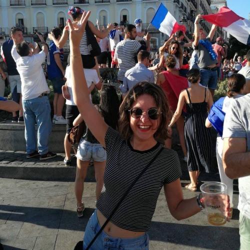 La Puerta del Sol aux couleurs de la France