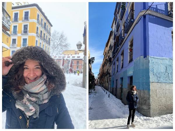 Madrid sous la neige