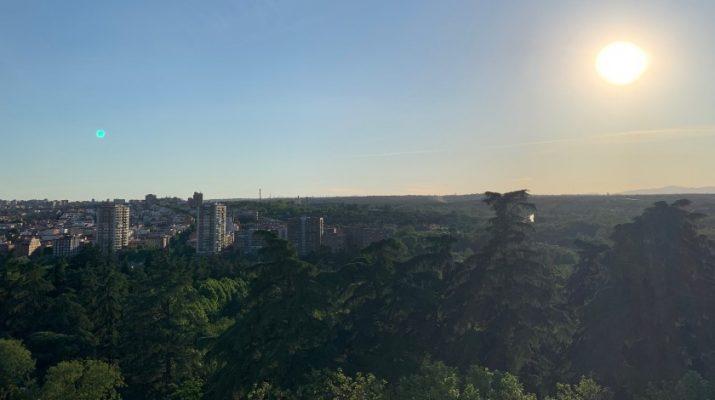 Le coucher de soleil depuis le mirador du Palacio